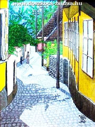 Steamship Street, Acrylic painting